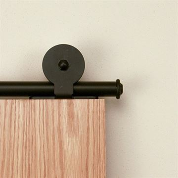 Designer Collection Top Mount Rolling Barn Hardware Kit for Wood Door