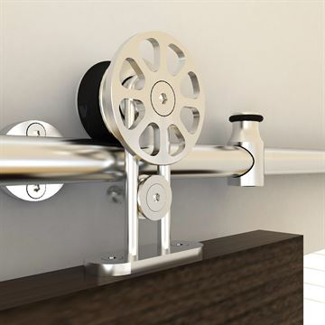 Designer Collection Top Spoke Wheel Rolling Hardware Kit - Wood Door