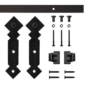 Quiet Glide Diamond Mini Single Barn Door Furniture Hardware Kit