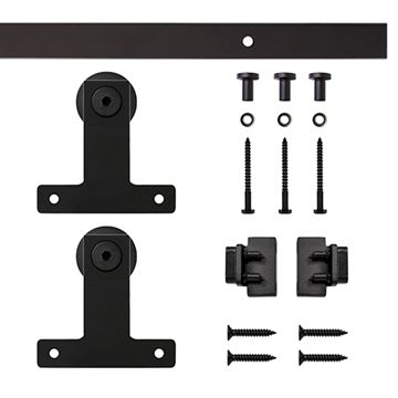 Quiet Glide Front Mount Mini Double Barn Door Furniture Hardware Kit