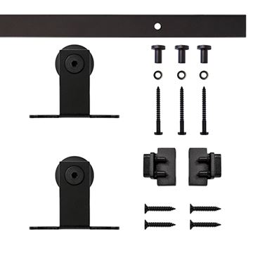 Quiet Glide Top Mount Mini Double Barn Door Furniture Hardware Kit