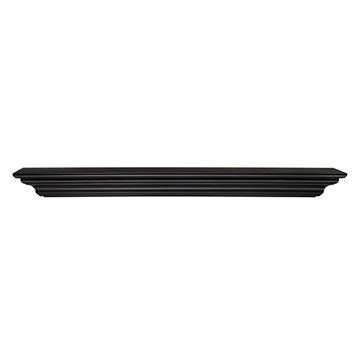 Pearl Mantels Crestwood Black Mantel Shelf