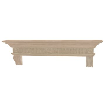 Pearl Mantels Devonshire Unfinished Mantel Shelf