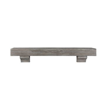 Pearl Mantels Shenandoah Cottage Gray Distressed Mantel Shelf