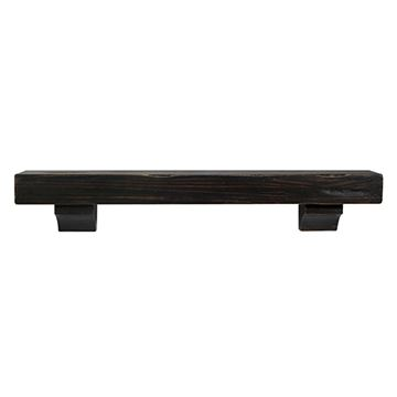 Pearl Mantels Shenandoah Espresso Rustic Distressed Mantel Shelf