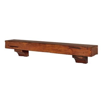 Pearl Mantels Shenandoah Medium Rustic Distressed Mantel Shelf