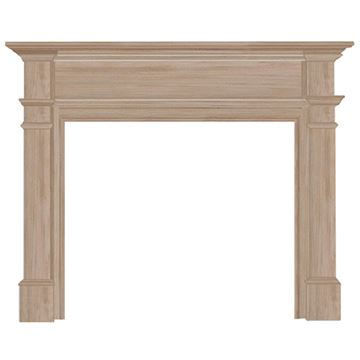 Pearl Mantels Windsor Unfinished Fireplace Mantel Surround