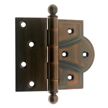 idh by St. Simons 4 Inch Half Mortise Cabinet or Door Hinge - Pair