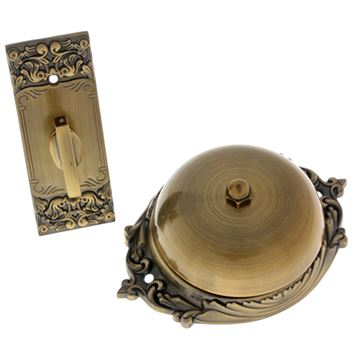 idh by St. Simons Victorian Twist Doorbell - Plain Dome