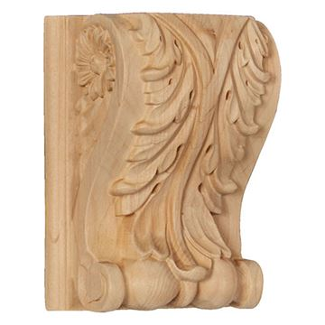 Restorers Architectural 6 1/2 Inch Acanthus Corbel with Backplate
