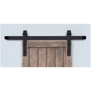 Acorn Rough Round End Rolling Barn Door Hardware Kit