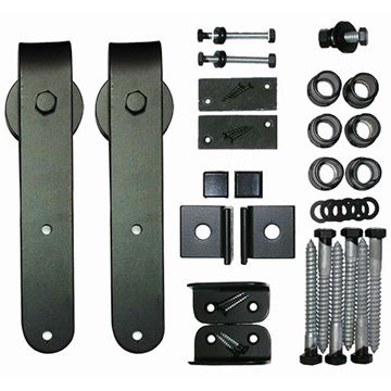 Acorn Smooth Round End Rolling Barn Door Hardware Kit - No Track
