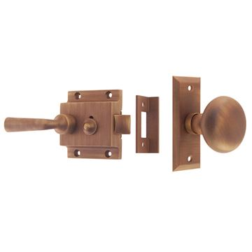 Restorers Classic Knob to Lever Screen Door Latch Set