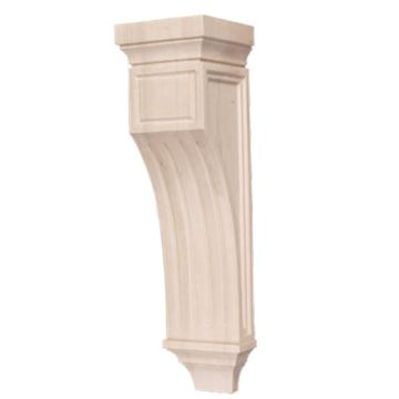 Legacy Artisan 26 1/2 Inch Mission Fluted Corbel