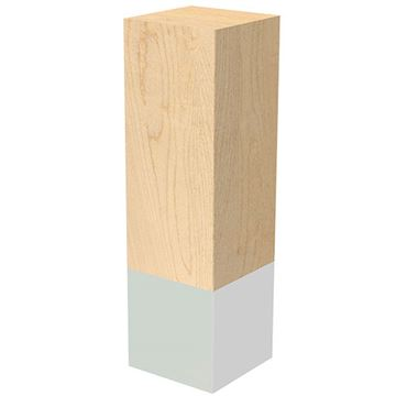 Designs of Distinction 3 x 10 Inch Leg with Chrome Sleeve