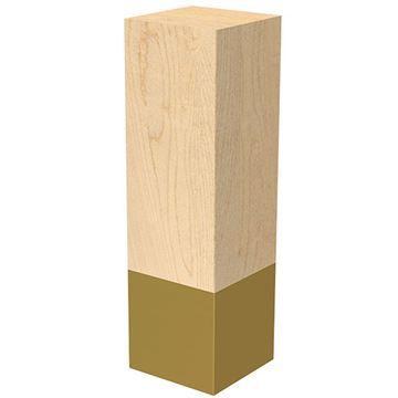 Designs of Distinction 3 x 10 Inch Leg with Satin Brass Sleeve