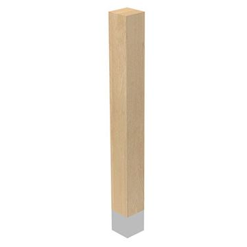 Designs of Distinction 3 x 29 Inch Square Leg with Natural Sleeve