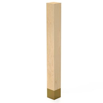 Designs of Distinction 3 x 29 Inch Square Leg with Satin Brass Sleeve