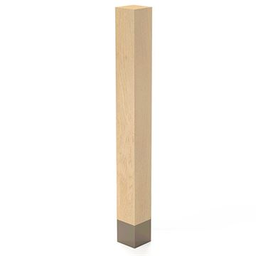 Designs of Distinction 3 x 29 Inch Square Leg with Warm Bronze Sleeve