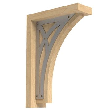 Designs of Distinction Bungalow Large Bracket with Nickel Abbey Insert