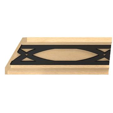 Designs of Distinction Crown Molding with Iron Abbey Insert