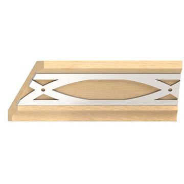 Designs of Distinction Crown Molding with Nickel Abbey Insert