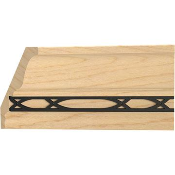 Designs of Distinction Insert Crown Molding with Iron Abbey Insert