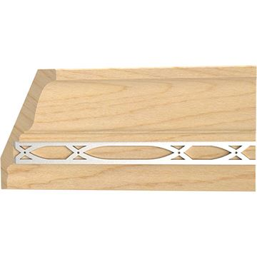 Designs of Distinction Insert Crown Molding with Nickel Abbey Insert