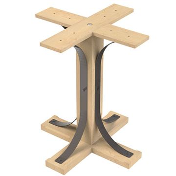 Designs of Distinction Lexington 28 1/2 Inch Table Pedestal Kit