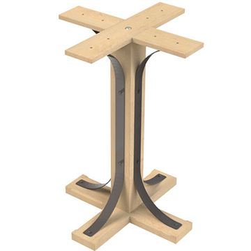 Designs of Distinction Lexington 34 1/2 Inch Table Pedestal Kit