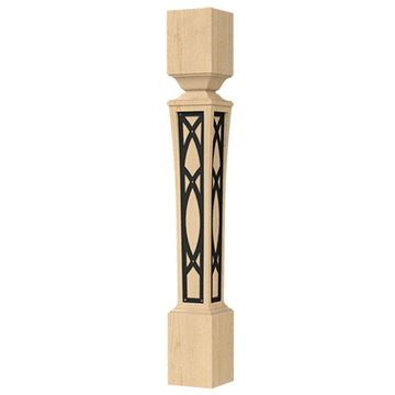 Designs of Distinction Nouveau 5 1/2 Inch Iron Abbey Island Leg