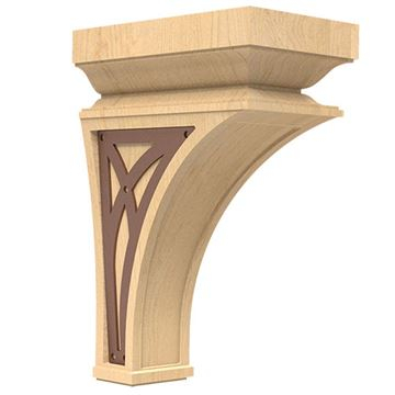 Designs of Distinction Nouveau Large Corbel with Bronze Abbey Insert