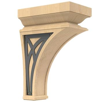 Designs of Distinction Nouveau Large Corbel with Iron Abbey Insert