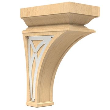Designs of Distinction Nouveau Large Corbel with Nickel Abbey Insert