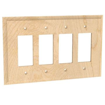 Designs of Distinction Quad Rocker Switchplate