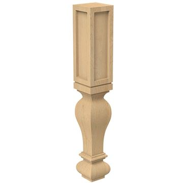 Designs of Distinction Routed Gaelic 4 1/2 Inch Table Leg