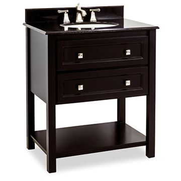 Elements Adler 31 Inch Black & Granite Single Vanity
