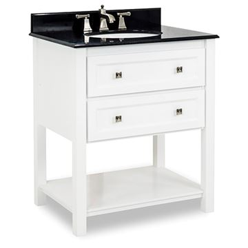 Elements Adler 31 Inch White & Granite Single Vanity