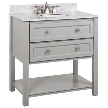 Elements Adler 36 Inch Grey & Marble Single Vanity