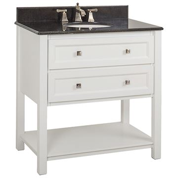 Elements Adler 36 Inch White & Granite Single Vanity