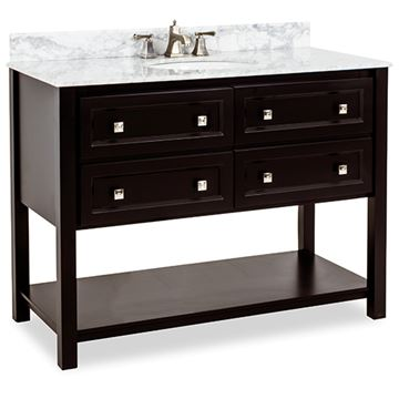 Elements Adler 48 Inch Black & Marble Single Vanity