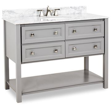 Elements Adler 48 Inch Grey & Marble Single Vanity