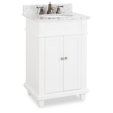 Elements Douglas 24 Inch White & Marble Single Vanity