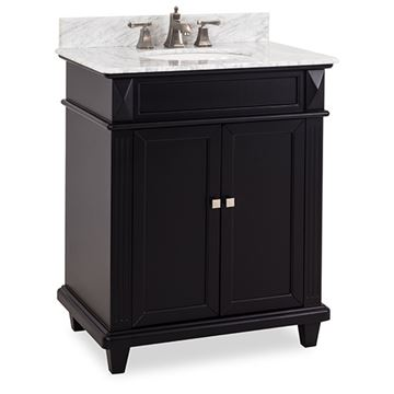 Elements Douglas 30 Inch Black & Marble Single Vanity