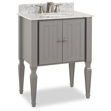 Elements Jensen 28 Inch Grey & Marble Single Vanity