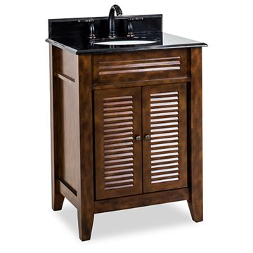 Elements Lindley 26 Inch Nutmeg & Granite Single Vanity