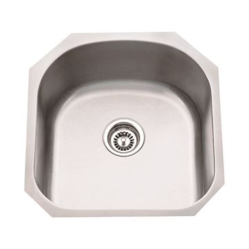 Hardware Resources 18 Gauge 20 Inch Stainless Single Utility Sink