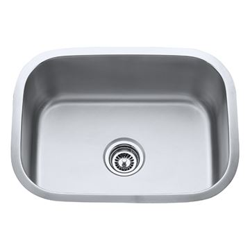 Hardware Resources 18 Gauge 23 Inch Oval Stainless Single Utility Sink