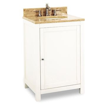 Jeffrey Alexander Astoria Modern 24 Inch Cream White Single Vanity
