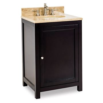 Jeffrey Alexander Astoria Modern 24 Inch Espresso Single Vanity